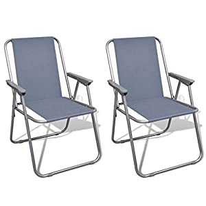 FZYHFA Klappstühle, Grau, für Camping im Freien, 52 x 59 x 80 cm (B x T x H)