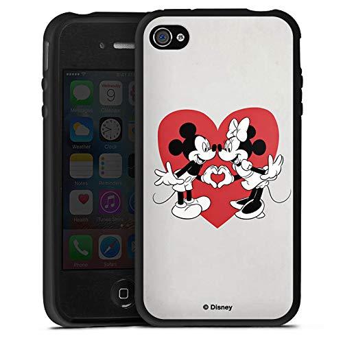 Silikon Hülle kompatibel mit Apple iPhone 4 Case Schutzhülle Disney Mickey Mouse Minnie Mouse