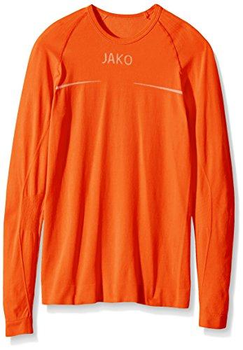 JAKO Longsleeve Comfort - Herren Langarmshirt,orange (neonorange), XL