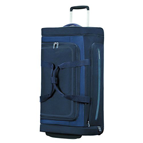 American Tourister Airbeat - Wheeled Duffle Bag 76/28 Bolsa de viaje, 76 cm, 86 liters, Azul (True Navy)
