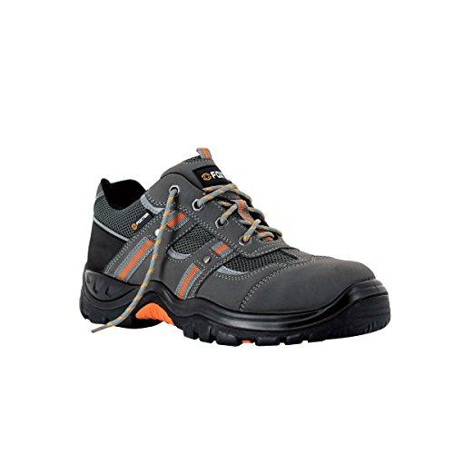 FOXTER - Chaussures de sécurité Basses Coyote - Textile Respirant et Cuir - Homme/Mixte -S1P SRC HRO