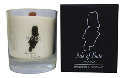 Isle of Bute Candle Company Duftkerze im Glas, Zitronengras und Ingwer -