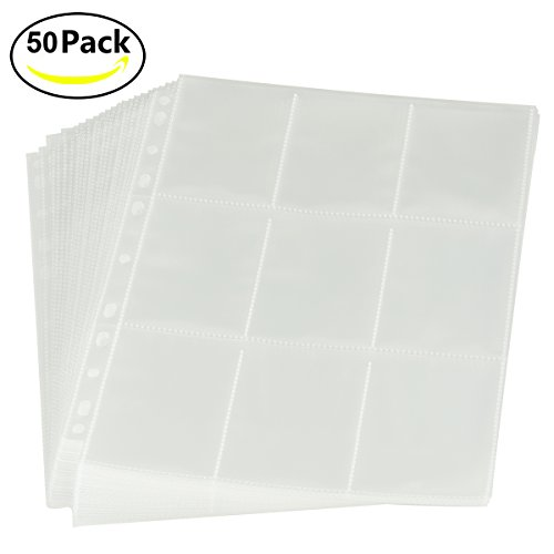 RIOMIO 270 Pockets Trading Card Sleeves Storage Wallets Album Pages Transparent