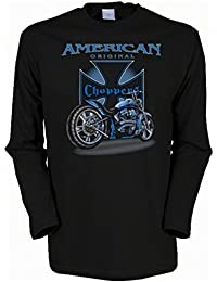 Motorrad American original Choppers Herren Langarmshirt in schwarz