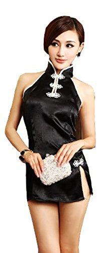 Viskey Damen Kostüm, im chinesischen Cheongsam-Stil, sexy Design style-1 (French Halloween Maid)