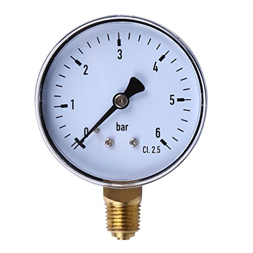 ONEVER TS-60 Professional 6 Bar Mini-Manometer Dial-Luftverdichter Meter