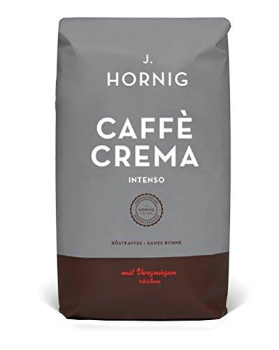 J. Hornig Caffe Crema Intenso | Kaffee Ganze Bohne | 1000g | perfekt für Vollautomaten und Espressomaschinen
