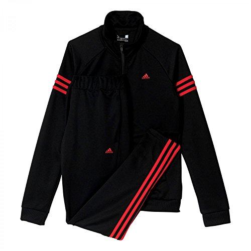 adidas Damen Teamsport Trainingsanzug, Black/Ray Red, M