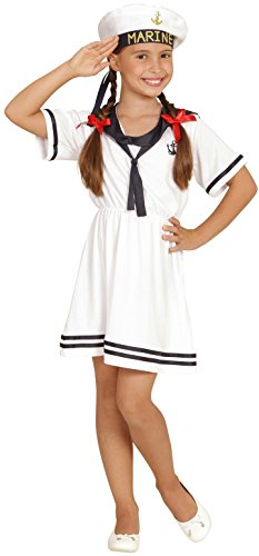 erkostüm Sailor Girl, Kleid und Hut (Matrosen Kostüm Kinder)
