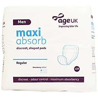 Age UK Maxi Absorb Mens Discreet Regular Shaped Pads (Case of 28 Units)