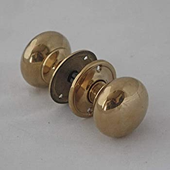 Georgian Small Brass Cottage Door Knobs Amazon Co Uk Diy