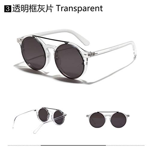 YOGER Sonnenbrillen Mode Frauen Runde Stil Nieten Sonnenbrille Vintage Hip Hop Stil Sonnenbrille
