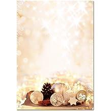 """Sigel DP926 Briefpapier Weihnachten """"Zimtsterne"""", A4, 25 Blatt, mit weihnachtlichem Gewürzduft"""