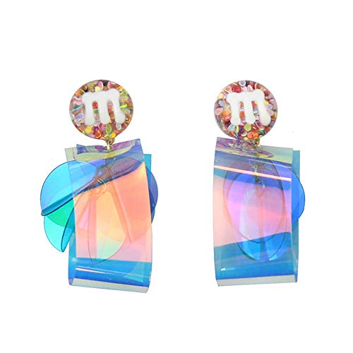 Beautifulchen Zuckerbohne Pvc Laser Farbwechsel Pailletten 925 Silber Nadel Ohrringe