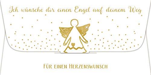 Kuvert für ein Geld- oder Gutscheingeschenk - Ich wünsche dir einen Engel auf deinem Weg: Für einen Herzenswunsch