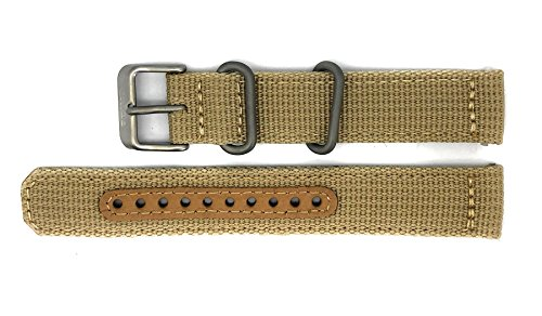 Seiko 5 SNK803/SNK803K2 Replacement Beige Fabric Watch Strap 4K10JZ