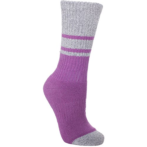 Trespass Women's Hadley Socks, Marine Marl/Raspberry Marl, Size 3/6