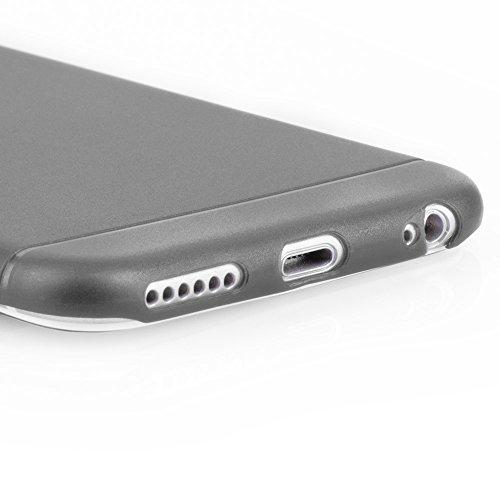"""Coque de protection ultra mince iPhone 6/6s (4,7"""") - Protection """"Gracili"""" en gris - Coque ultra mince pour iPhone avec protecteur d'appareil photo - Coque légèrement transparente qui assure une protec Noir - noir"""