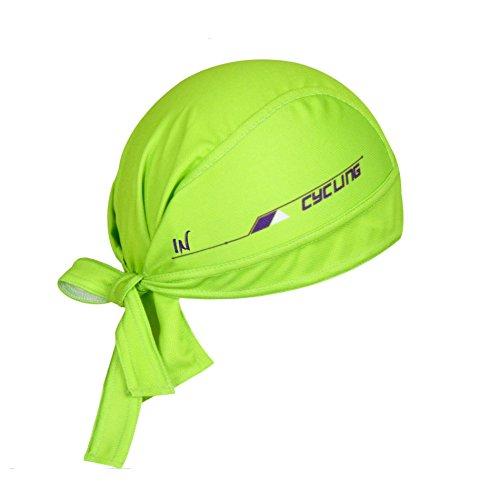 ShopINess Gorro bandana ciclismo (varios colores) (Verde)