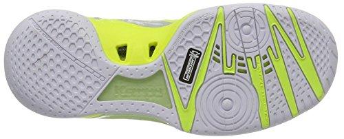 Kempa Wing Lite Women Caution, Scarpe Sportive Indoor Donna Grigio (Light Grau/weiß/fluo Gelb)