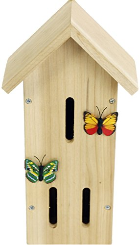 Wooden Insect Bee Butterfly House ~ Butterfly Nesting Box For Garden Test