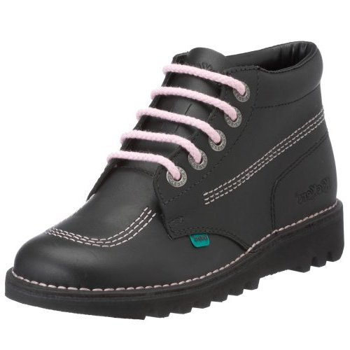 Kickers Women's Kick Hi Core Ankle Boots, Black (Black/Pink/Blck), 8 UK (42...