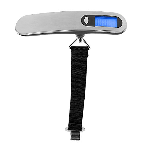 LeaningTech Tragbare Digital LCD Gepäckwaage Kofferwaage Hängewaage  Handwaage, Höhe Genauigkeit, 110 Lb/50KG