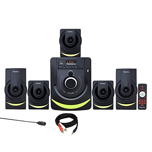 TRONICA Version:1 Atom Series LED Spectrum 5.1 Home Theater System with Bluetooth/SD Card/Pen Drive/FM/AUX Support & Remote (5.1)