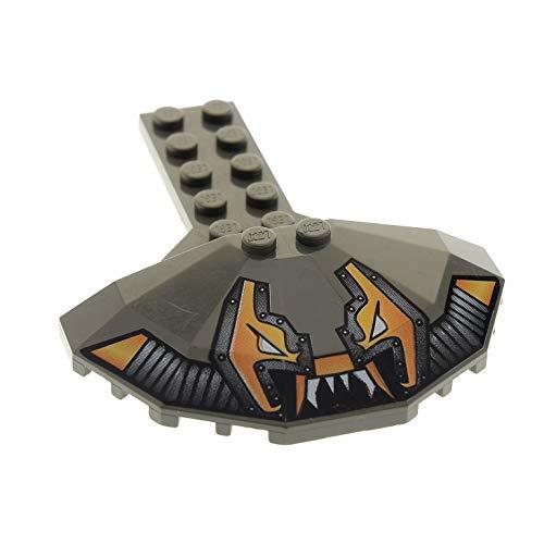 Bausteine gebraucht 1 x Lego System Tragfläche alt-dunkel grau 2 x 6 mit 4 x 8 halber Untertasse und Stingray Aufdruck Space UFO Panele rund Set 6199 6107 6198 30195pb01 4 Untertassen