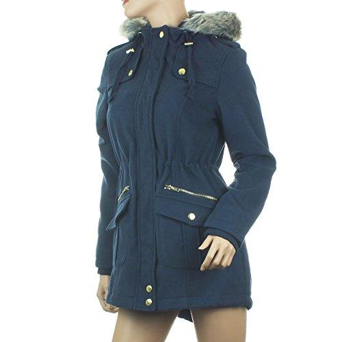 Ex Blue Inc Damen Parka Mantel * Einheitsgröße Navy