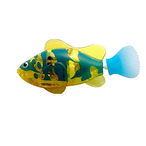 Buweiser Emulation Elektronische Fisch Baby Schwimmen Bad Elektrisches Bad Licht Spielzeug Magisches Licht Sensing 1 STÜCK (C) -