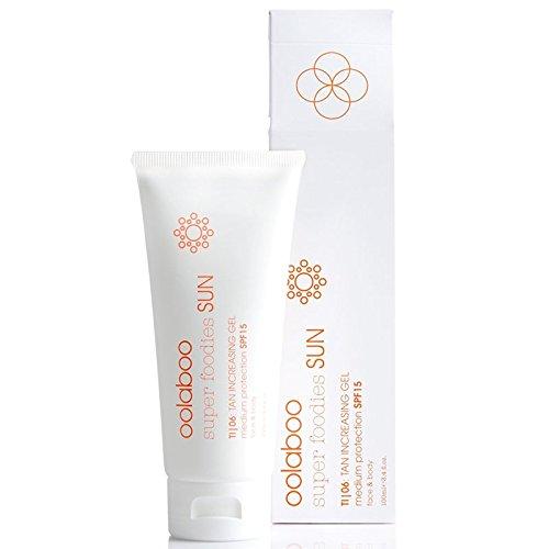 oolaboo SUPER FOODIES SUN TI|06 tan increasing gel SPF 15 100 ml Leichtes Sonnengel für Gesicht und Körper