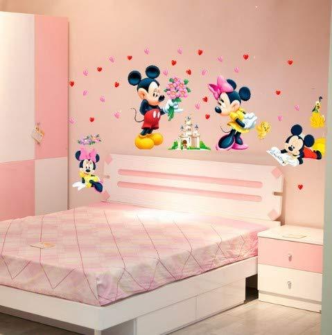 CCM Cartoon Mickey Minnie Mouse Baby-Startseite Abziehbilder Wandaufkleber für Kinderzimmer Baby Schlafzimmer Wand Kunst Kindergarten Vergnügungspark DIY Poster