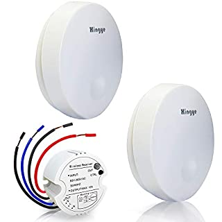 Wireless Lights Switch Kit, No Battery,No WiFi,No Wires,No Tearing Walls,Self-Powered Remote Control Range Up to 150 Feet, 2-Way Switches ON/Off Lamps, Already Paired for Immediate Use