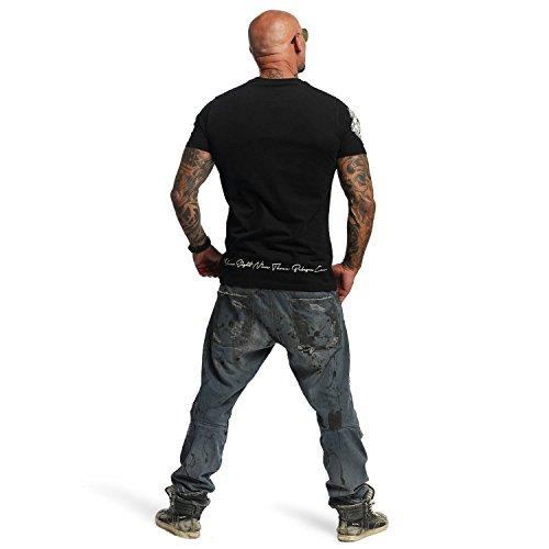 Yakuza Original Herren Daily Skull T-Shirt Schwarz