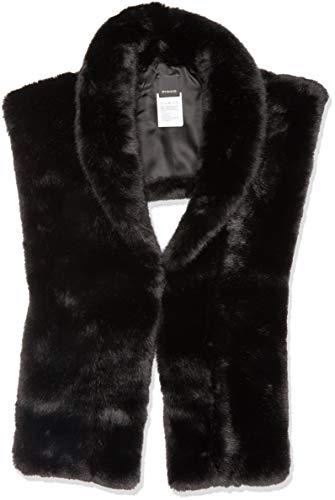 PINKO Damen Mütze, Schal & Handschuh-Set URSINO COLLO IMITATION FUR Nero Limousine Z99, Einheitsgröße (Herstellergröße:U)