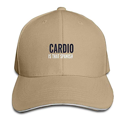 Cardio is That Spanish New Hot Running Peaked Cap Baseball Hat Natural 08402