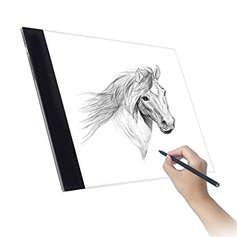 Tablette Lumineuse, Luminosite Reglable A4 Ultra Mince Cable USB Lumineuse Dessin LED Copy Light Box Pour Dessiner