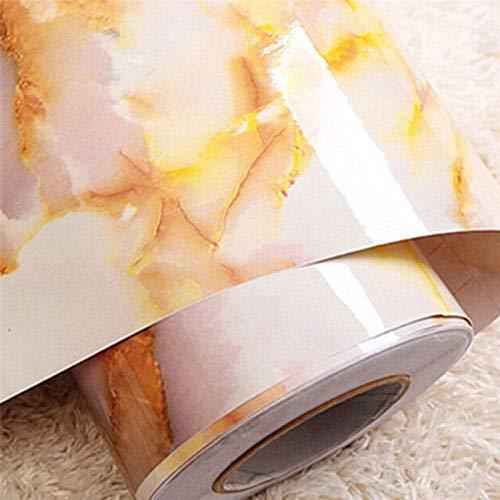"""APSOONSELL Granit Marmor Effekt Tapete Selbstklebende Peel Stick Rolling Sticker Wand Aufkleber für Küche Badezimmer Tisch Hintergrund Dekoration,Gold(15.7\"""" x 70.9\"""""""