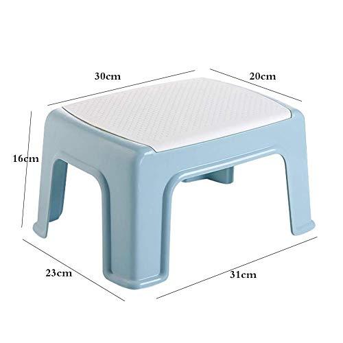 BBG Mode Kreative Kleine Möbel Anti-Rutsch-Hocker Modern Home Kleine Bank Gestapelt Werden können Niedriger Hocker Kunststoff-Podest Hocker Multifunktions-Sofa Hocker Multifunktions-Haushalt Kreativ,