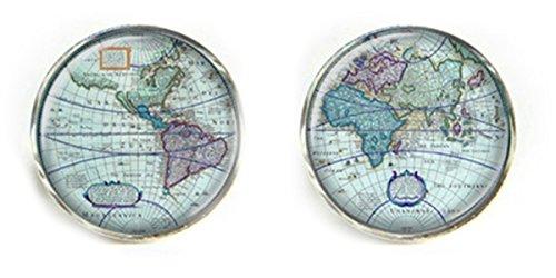 World/Earth Manschetten und Manschettenknöpfe, in Geschenkbox, World 10, onesize (Klassischen Taste Anzug)