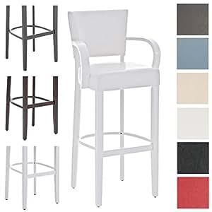 clp holz barhocker ethel mit armlehnen w hlen sie aus bis zu 13 farbkombinationen sitzh he 81. Black Bedroom Furniture Sets. Home Design Ideas
