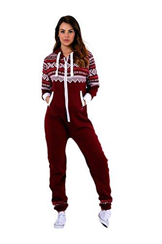 738e5009313f Parsa Fashions ® New Womens Ladies Aztec Print Hooded Zip Up Onesie Jumpsuit  Plus Sizes S