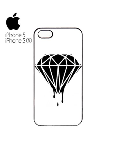 Dripping Plain Diamond Dope Funny Hipster Swag Mobile Phone Case Back Cover Hülle Weiß Schwarz iPhone 5&5s White Weiß