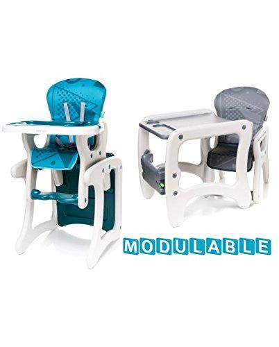 Seggiolone Fashion turchese Bambino 3in 1Trasformabile convertibile