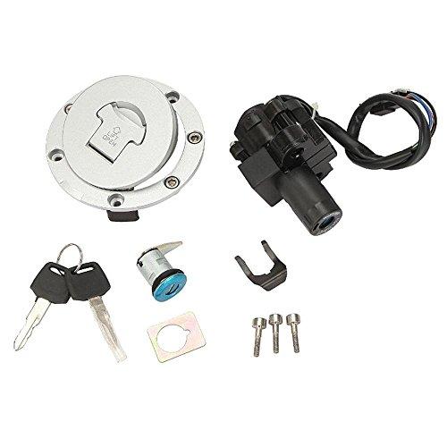 Etbotu Moto Assise Lock Interrupteur d'allumage d'essence à gaz de clés de serrure pour Honda Cbr600 2007-2014