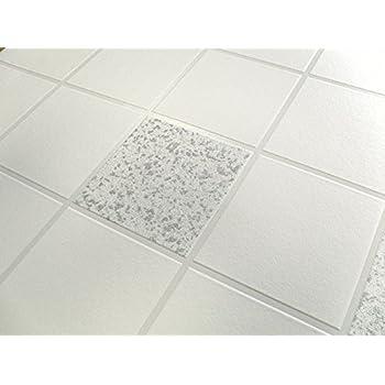 89270 Apex White Tiles // Silver Glitter Tiling On A Roll Holden Wallpaper