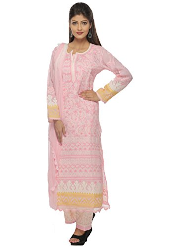 ADA-Stylish-Lucknow-Chikan-Ethnic-Pink-Cotton-Salwar-Suit-Dupatta-With-Fancy-Embroidered-Motifs-A128666