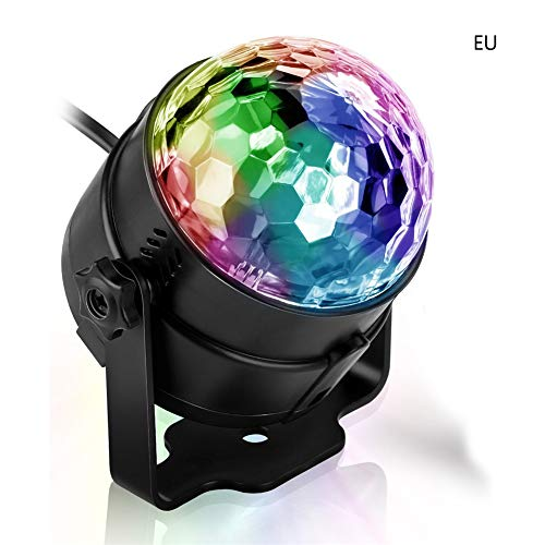 Wellouis Party Lights Sound Activated with Remote Halloween Disco Ball Light Rotating LED Stage Lights