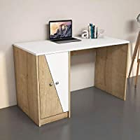 Bravo Gold Studying Desk, White 8681285933928